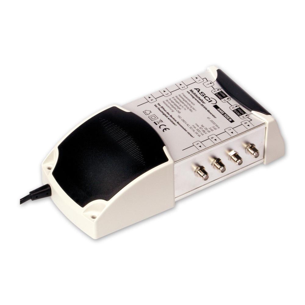 ASCI AMS 508 N ECO Multischalter 5/8 für 8 Teilnehmer | 5 in 8, Terrestrik verstärkt, Stromspar-Funktion, HDTV-, UHD(4K)-,3D-tauglich