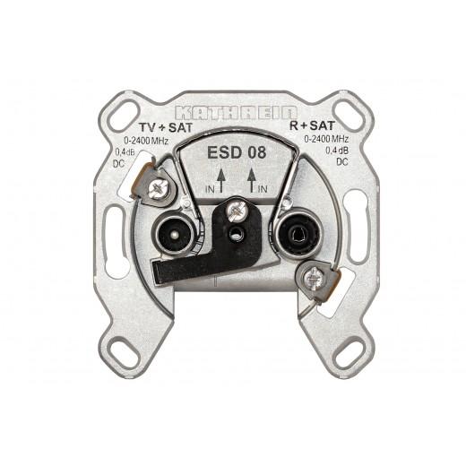 Kathrein ESD 08 Sat-Steckdose | 2-fach, DC, 2 Leitungen