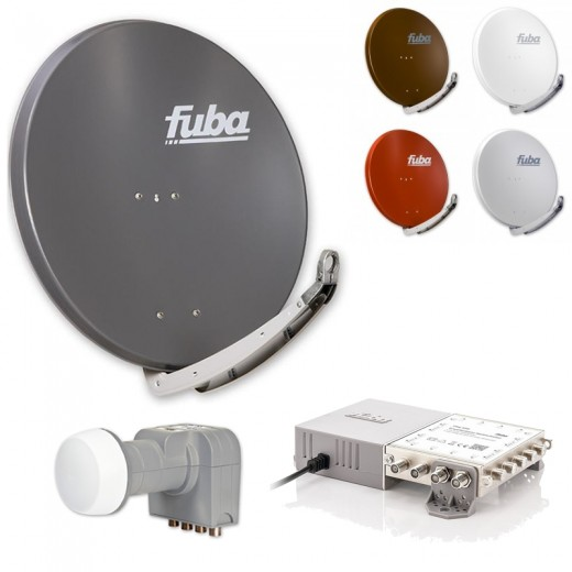 Fuba Sat-Anlage 8 Teilnehmer | erweiterbar bis 48 Teilnehmer | DAA850 + DEK406 + FMG508 | HDTV-, 4K- und 3D-kompatibel