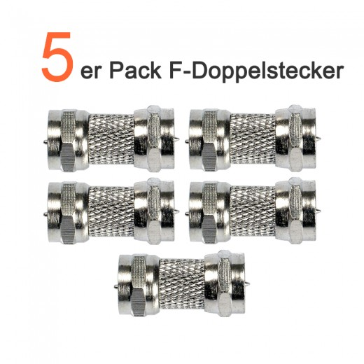 5er Pack High Quality F-Doppelstecker | 5x F-Doppelstecker OVZ 095
