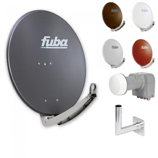 Fuba HDTV Sat-Anlage 4 Teilnehmer | Fuba DAA 780 Alu Sat-Antenne + DEK 416 LNB + Winkelwandhalter