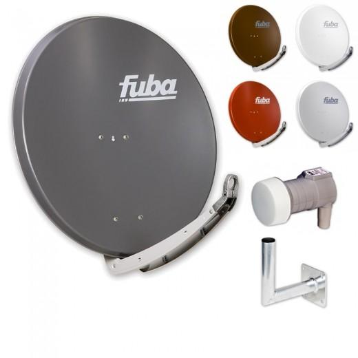Fuba DAA 850 HD Sat Anlage - 1 Teilnehmer (m. DEK 106) - Sat Anlage bestehend aus Fuba DAA 850 in Ihrer Wunschfarbe + Fuba DEK 106 Single LNB + Fuba Wandhalter