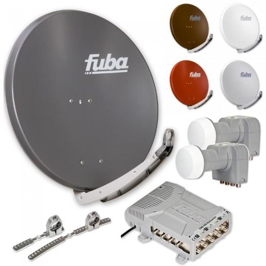 Fuba DAA 850 HD Sat Anlage 8 Teilnehmer 2 Satelliten | bis zu 24° Abstand, bspw. Astra/Hotbird oder Astra/Sirius