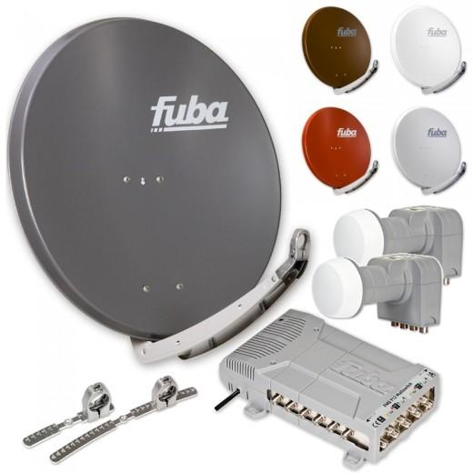 Fuba DAA 850 HD PREMIUM Sat Anlage - 12 Teilnehmer 2 Satelliten - Sat Anlage zum Empfang von 2 Satelliten mit bis zu 24° Abstand
