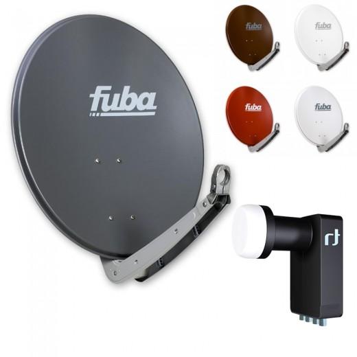 Fuba DAA 650 HD Sat Anlage - 4 Teilnehmer (m. Inverto Quad LNB) - Sat Anlage bestehend aus Fuba DAA 650 in Ihrer Wunschfarbe + Inverto Black Ultra Quad LNB