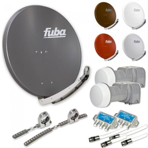 Fuba DAA 850 HD Sat Anlage 2 Teilnehmer 2 Satelliten | bis zu 24° Abstand, bspw. Astra/Hotbird oder Astra/Sirius