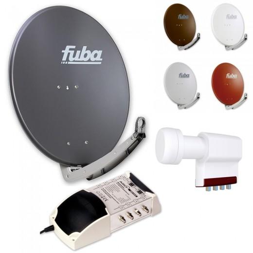 8-Teilnehmer-Sat-Anlage | Fuba DAA 780 Sat-Schüssel + LNB + 5/8 Multischalter