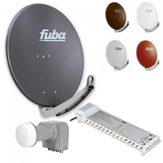 Fuba DAA 780 HD Sat Anlage - 16 Teilnehmer (FMS 516) - Sat Anlage bestehend aus Fuba DAA 780 in Ihrer Wunschfarbe + Fuba DEK 406 Quattro LNB + Fuba FMS 516