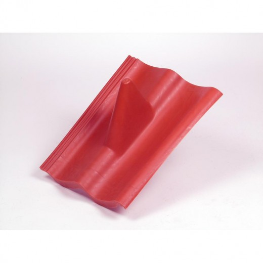 DPR 207 roter Doppel-S-Kunststoff-Dachziegel
