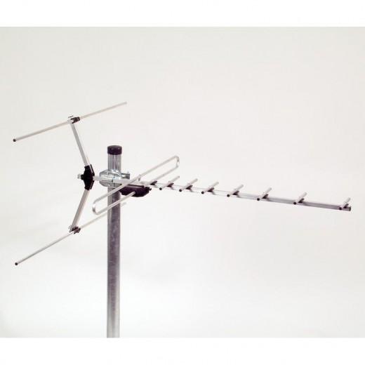 ASCI VUF 111VHF/UHF-Kombi-Antenne mit 11 Elementen für Band III und IV/V