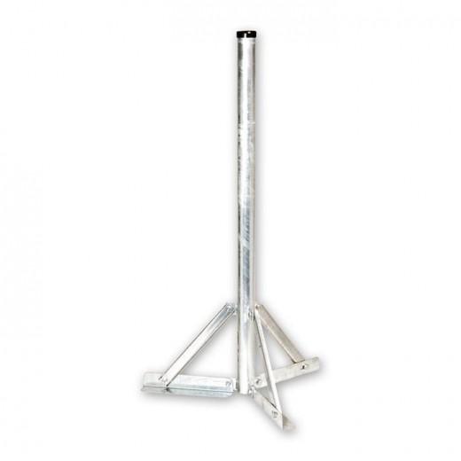 SSF 120 Sat Antennen Standfuß mit 120 cm Rohrlänge, 60 mm Durchmesser, Stahl feuerverzinkt | Halterung für Sat Schüssel