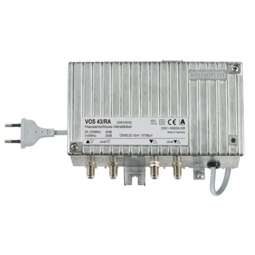 Kathrein VOS 43/RA Hausanschluss-Verstärker, 34/40dB
