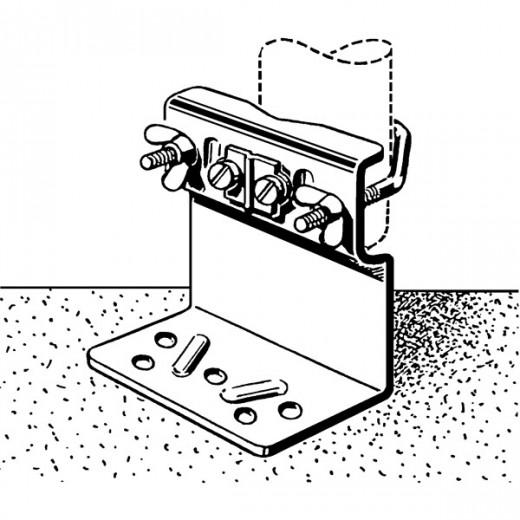 Kathrein ZTM 01 Mastfuß für Antennenmasten mit 32-60 mm Durchmesser