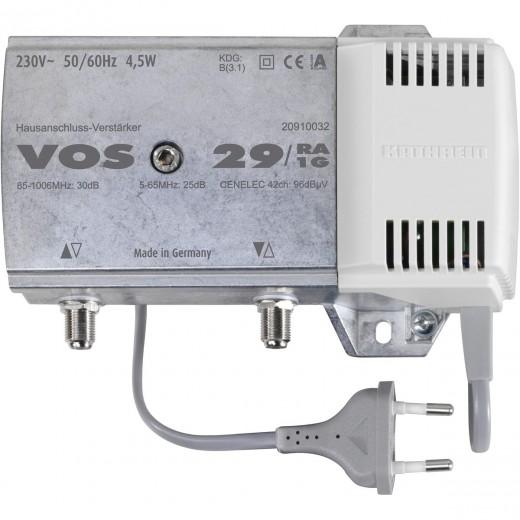 Kathrein VOS 29/RA-1G Hausanschluss Verstärker | 30dB Verstärkung, aktiver Rückkanal