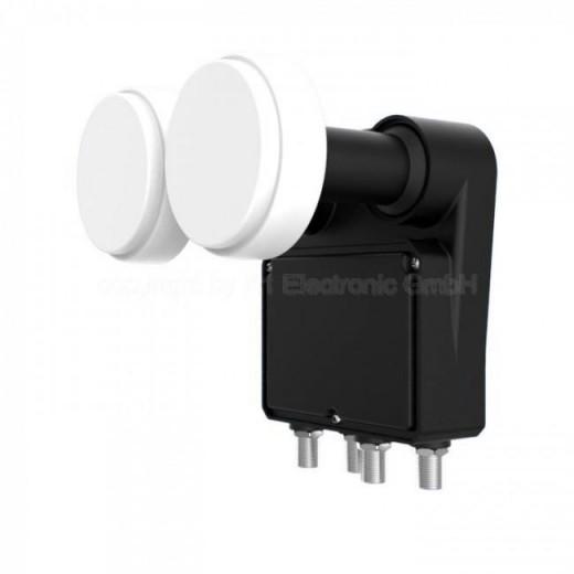Inverto Black Pro Monoblock Quad LNB mit 6° Abstand Astra/Hotbird | IDLB-QUDM21-MN006-8PP, 23/40 mm, 4 Teilnehmer