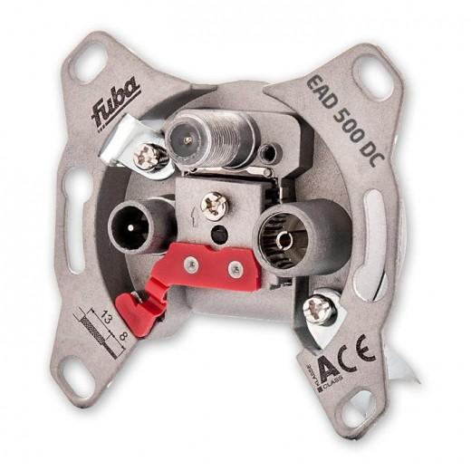 Fuba EAD 500 DC 3-Loch Antennen-Einzeldose 1 dB | DC-Durchlass, Unicable-tauglich, UP