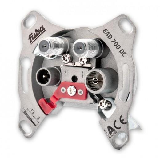 Fuba EAD 700 DC 4-Loch Antennen-Einzeldose 2 dB | 2x Sat, DC-Durchlass, Unicable-tauglich, UP