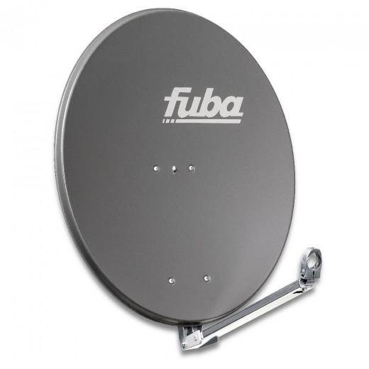 Fuba DAL 800 A Alu Sat-Antenne anthrazit 74x84 cm | Aluminium Sat-Spiegel, klappbarer Feedarm, montagefreundlich