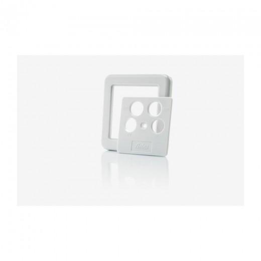 Fuba GDZ 400 Abdeckplatte für Antennensteckdosen mit 4 Ausgängen perlweiß