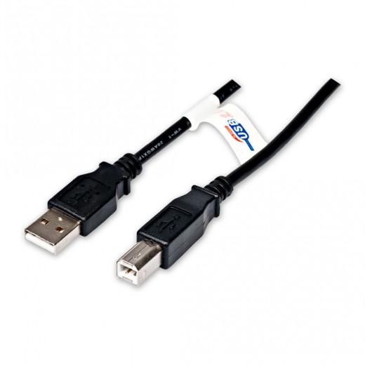 Fuba - FUB 200 USB-A St. - USB-B St.,USB 2.0,2,00m,schwarz