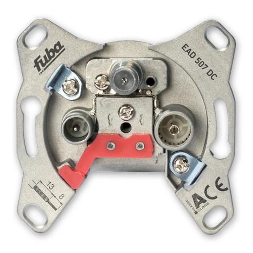 Fuba EAD 507 DC Antennen-Einzeldose mit DC-Durchlass, 3 separaten Anschlüssen und 7 dB Anschlussdämpfung