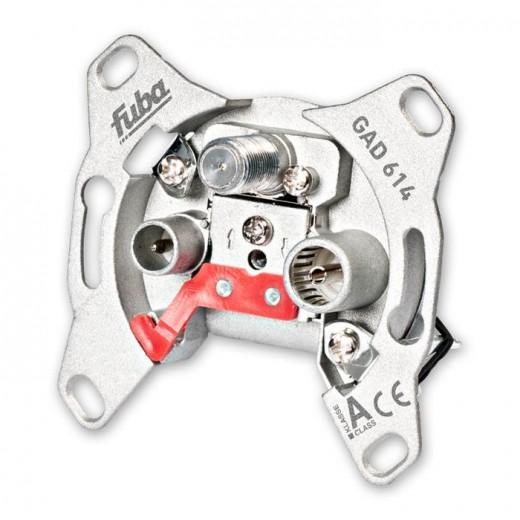 Fuba GAD 614 programmierbare Durchgangs-Sicherheitsantennendose mit einer Anschlussdämpfung von 14 dB