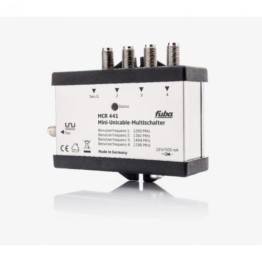 Fuba  MCR 441 Mini-Unicable-Multischalter 4/1x4