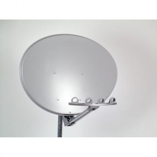 OFS 104 - Hellgraue Multifocusantenne für bis zu fünf Satellitenpositionen über einen Bereich von 30 Grad