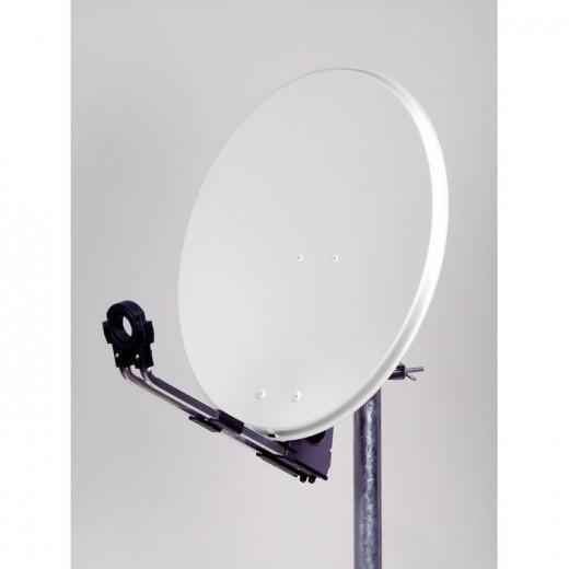 OFA 600 C - hochwertige Satellitenschüssel Aluminium lichtgrau 60cm