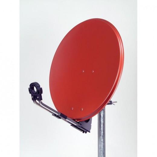 OFA 602 C - hochwertige Satellitenschüssel Aluminium ziegelrot 60cm