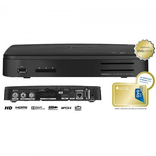 Telesystem TS 9020 TIVU HD Twin Sat-Receiver schwarz inklusive tivùsat SmartCard