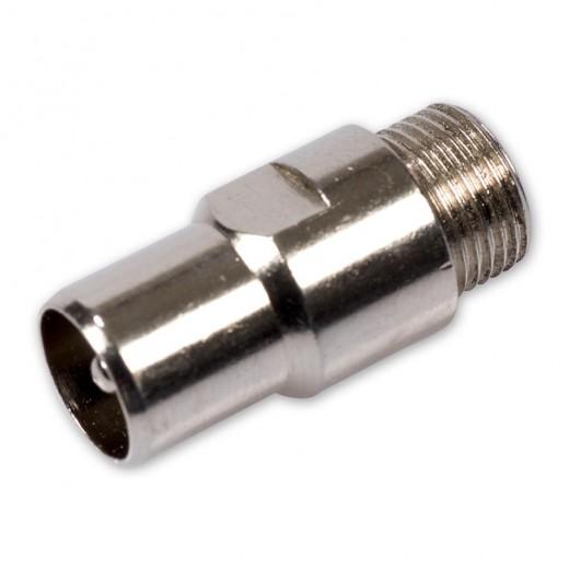 Fuba OVZ 070 HQ (0,00m/Adapter) Adapter F-Buchse / IEC-Stecker.