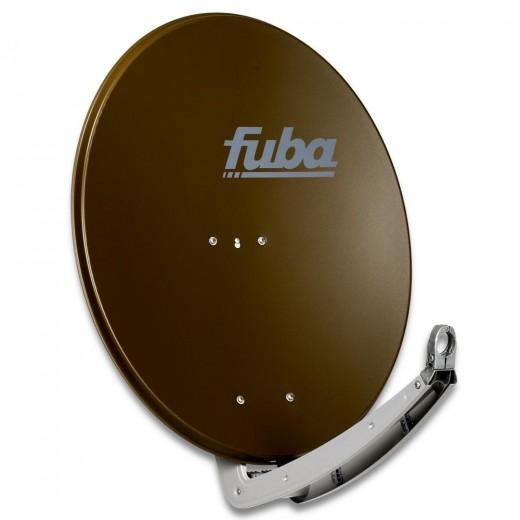 Fuba DAA 780 B Premium Aluminium Sat-Antenne braun | 74 cm x 84 cm mit stabilem Doppeltragarm