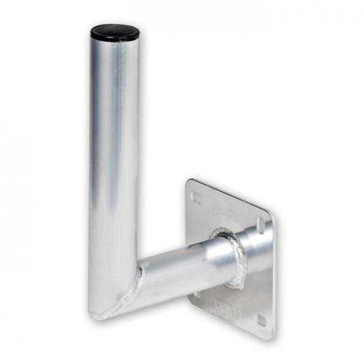 Fuba DAZ 150 Aluminium Winkelwandhalter für Sat-Antennen | 180mm Wandabstand, 250mm Länge, 48mm ø
