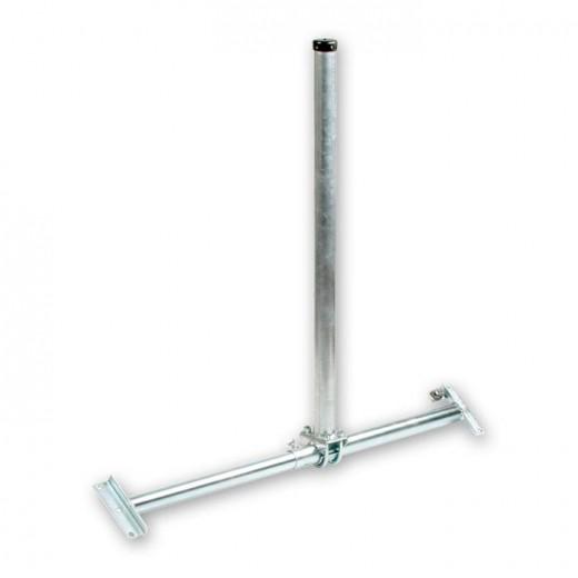 Fuba DSP 060 Dachsparrenhalter für Sat-Antennen | Sparrenabstand: 39-60 cm, Masthöhe: 90 cm, Ø 48 mm, feuerverzinkt, Kabeldurchführung