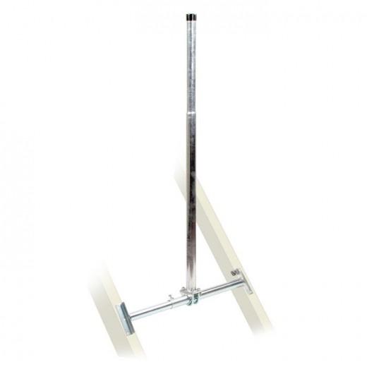 Fuba DSP 065 Dachsparrenhalter (TÜV-geprüft für Sat Schüsseln bis 1,0m Durchmesser)*, Sparrenabstand 39 bis 52 cm, Masthöhe 130 cm, Ø 48 mm, feuerverzinkt, Kabeldurchführung