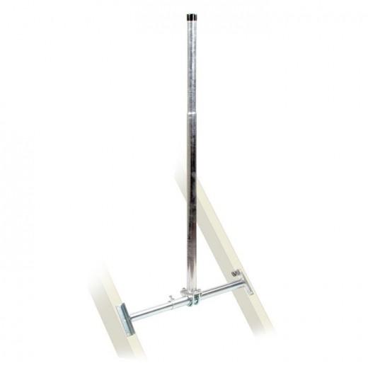 Fuba DSP 135 Dachsparrenhalter (TÜV-geprüft für Sat Schüsseln bis 1,0m Durchmesser)*, Sparrenabstand 87 bis 110 cm, Masthöhe 130 cm, Ø 48 mm, feuerverzinkt, Kabeldurchführung