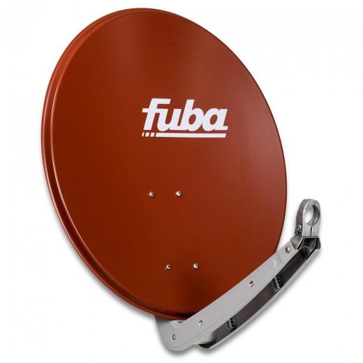 Fuba DAA 650 R Sat-Antenne Aluminium ziegelrot | Sat-Schüssel 60 cm x 65 cm