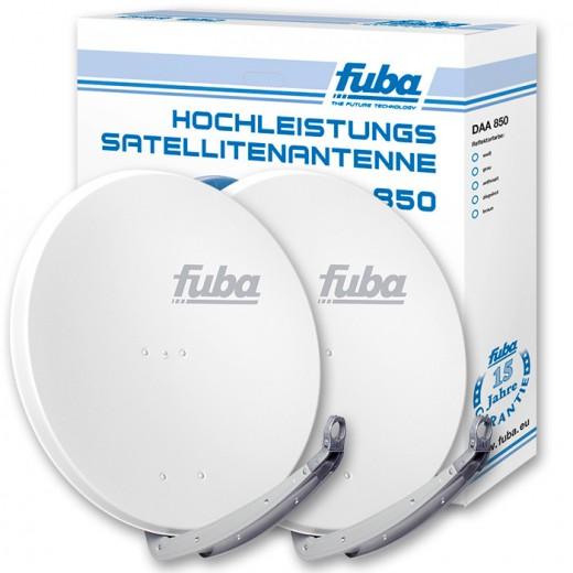 Fuba DAA 850 W Doppelpack Satellitenschüssel weiß 85cm
