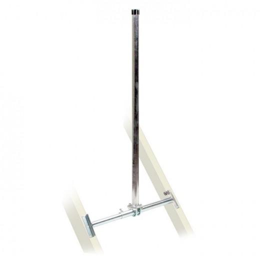Fuba DSP 130 Dachsparrenhalter (TÜV-geprüft für Sat Schüsseln bis 1,0m Durchmesser)*, Sparrenabstand 52 bis 85 cm, Masthöhe 130 cm, Ø 48 mm, feuerverzinkt, Kabeldurchführung