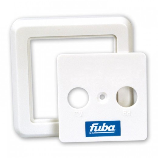 Fuba GDZ 476-2 2-teilige perlweiße Abdeckplatte für die Baureihe GAD 2xx