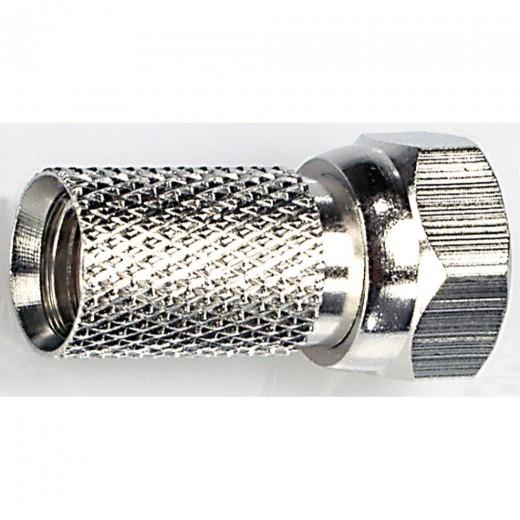 Fuba OVZ 035 Schraubbarer F-Stecker für Kabel mit einem Durchmesser von 7,0 mm.