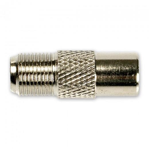 Fuba OVZ 070 (0,00m/Adapter) Adapter F-Buchse / IEC-Stecker.