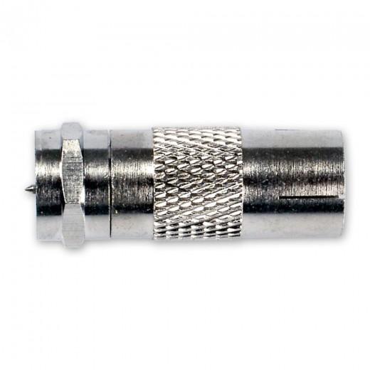 Fuba OVZ 075 (0,00m/Adapter) Adapter IEC-Buchse / F-Stecker.