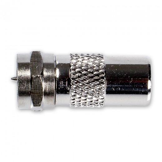 Fuba OVZ 080 (0,00m/Adapter) Adapter IEC-Stecker / F-Stecker.