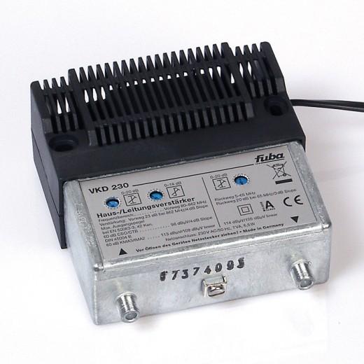 Fuba VKD 230 23 dB Haus- und Leitungsverstärker für bidirektionale Verteilanlagen