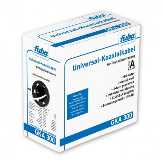 Fuba GKA 300 250m-Box Universal-Koaxkabel 3-fach geschirmt 110dB Schirmungsmaß