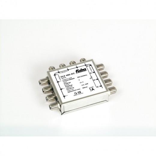 Fuba OLV 405 DC passiver Zweifach-Verteiler für 4 Satelliten-Ebenen mit DC-Durchlass