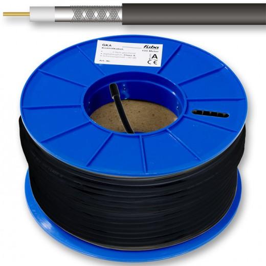 Fuba GKA 725 Sat-Koaxialkabel ClassA 6,8mm 100m-Ring schwarz Innenleiter aus Kupfer