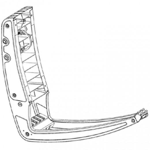 Fuba DAA 780 Rückenteil mit Feedarm